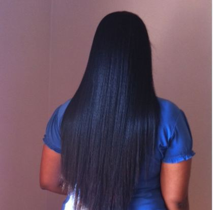 Permanent Hair Straightening of Client
