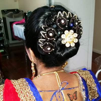 indian hair styling bridal makeup and hair styling melbourne 4885 | indian wedding bride hair styling